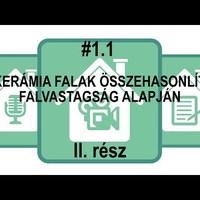 #1.1 Vázkerámia falak összehasonlítása falvastagság szerint - II. rész