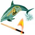 Felgyújtott delfinek