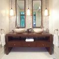 Elegáns fürdőszoba polgári lakásokba