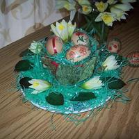 Húsvéti virágkompozíció