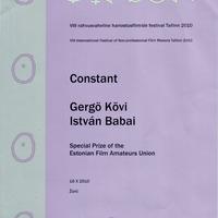 Különdíj az észt amatőrfilmes szövetségtől