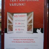 Véradás plakát