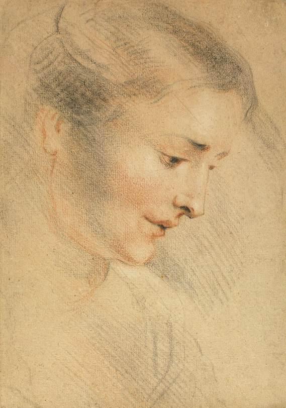 Női fej, Watteau