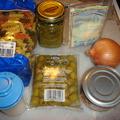 Tonhalas-olivabogyós-pestós tészta