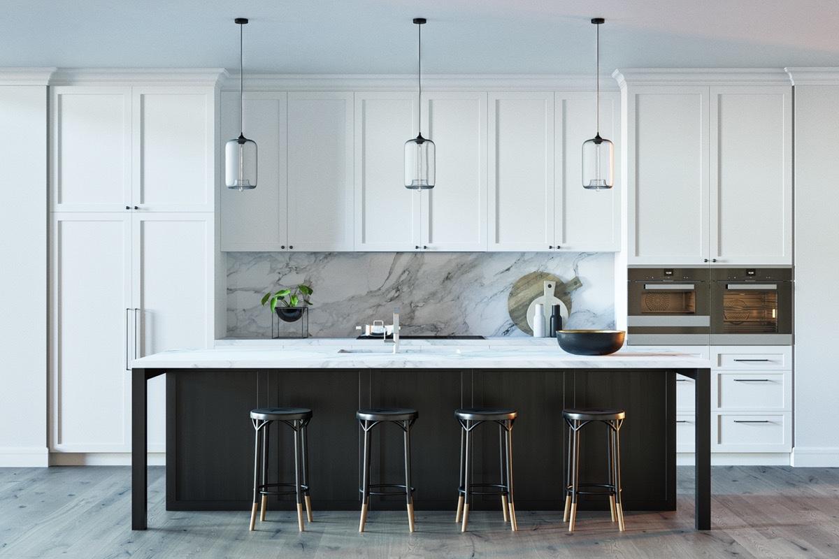 20 inspiráló konyha márvánnyal
