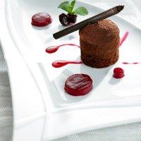 Brownie with strawberry