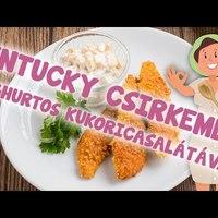 Kentucky csirkemell joghurtos kukoricasalátával