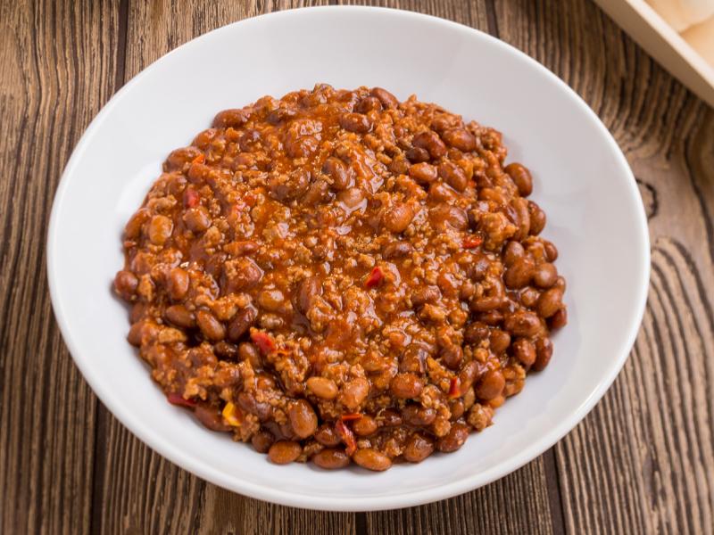 Fűszeres zöldséges-babos-húsos ragu