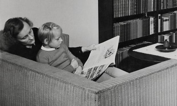 Kislányával, Karinnal 1941-ben