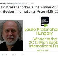 BRÉKING: Krasznahorkai nyerte a Nemzetközi Man Booker Díjat!