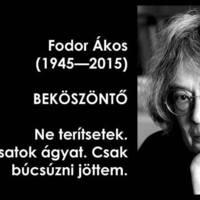 Meghalt Fodor Ákos