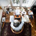 Így néz ki Lator László dolgozószobája