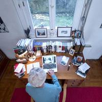 Így néz ki Németh Gábor dolgozószobája