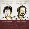 Olga Tokarczuk 2018 és Peter Handke 2019 irodalmi Nobel-díjasa!