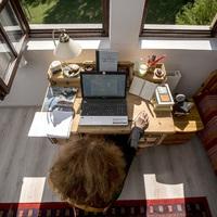 Így néz ki Boldizsár Ildikó dolgozószobája