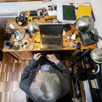 Így néz ki Konrád György dolgozószobája