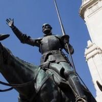 Időládát találtak Cervantes szobra alatt