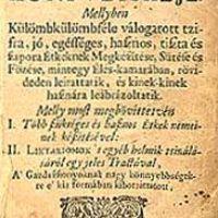 Egy háromszáz éves étel íze – Bibliofil csemegék extra