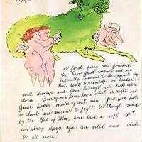 Warhol korai rajzai egy albumban