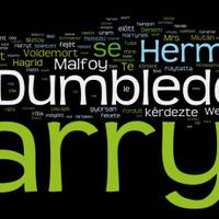 Harry Potter-szófelhő: minden a hatodik részről