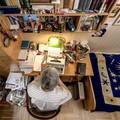 Így néz ki Csukás István dolgozószobája
