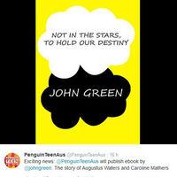 John Green ausztrál kiadója alaposan megszívatta a rajongókat