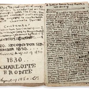 Hatalmas összeget fizettek Charlotte Brontë kézzel írt, miniatűr könyvéért