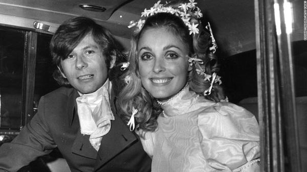 Polanski és Tate az esküvőjük napján (1968)