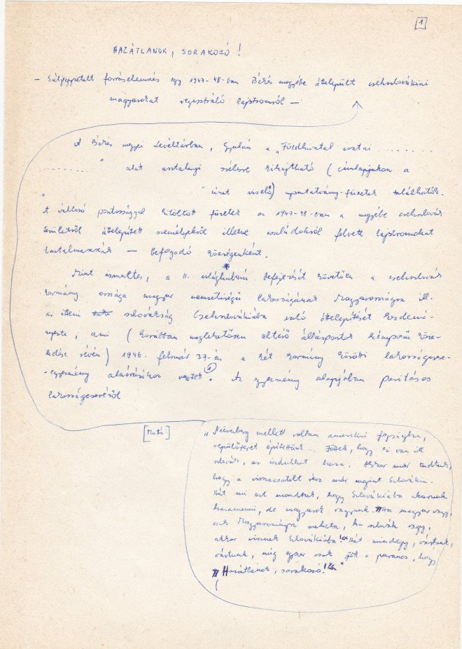 Závada Pál kézirata