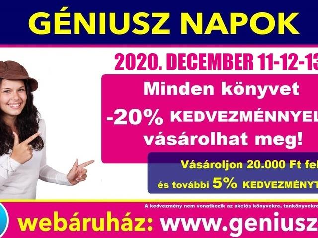 A december sem marad Géniusz Napok nélkül! - Jön az 57. KARÁCSONYVÁRÓ GÉNIUSZ NAPOK!