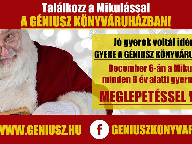 Eseménydús hét előtt állunk! December 6-án a Mikulás, december 8-án Leslie L. Lawrence látogat el a Géniusz Könyváruházba!