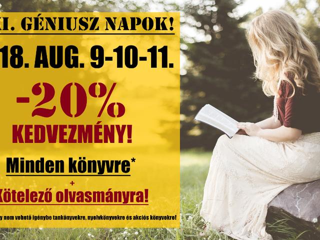 Augusztusban is GÉNIUSZ NAPOK! 31. Géniusz Napok - 2018. augusztus 9-10-11.