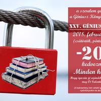 A szerelem géniuszai megszállják a Géniusz Könyváruházat! - Szerelmes Géniusz Napok 2018. február 8-9-10.