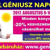 Augusztusban is Géniusz Napok! Tudtátok, hogy ez már a 20. lesz? 2017. augusztus 9-10-11-12. XX. Géniusz Napok!