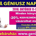 Indul az őszi Könyvünnep! Októberben is GÉNIUSZ NAPOK! 33. Géniusz Napok - 2018. október 11-12-13.