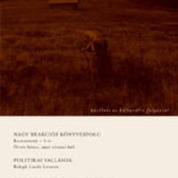 A nagy reakciós könyvespolc: megjelent a Kommentár 2011/1. száma