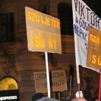 Kormány vs. tüntetők: gonzó gondolatok