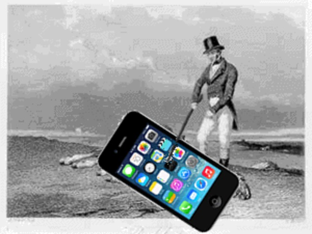 Csak ül és nyomogatja a telefonját