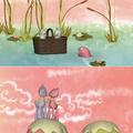 Rózsaszín szárnyas őzike vagyok, és boldogan ugrabugrálok a levegőben