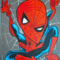 Superheroes Picasso módra