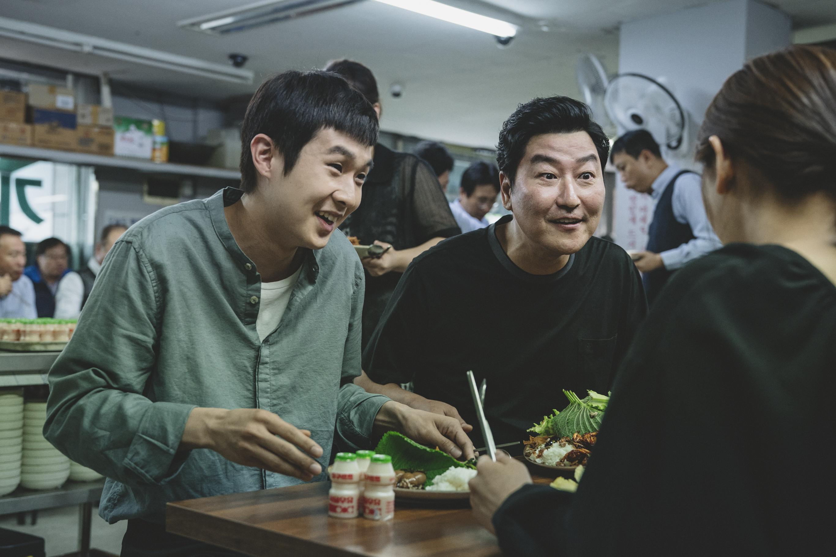 A kis család (Choi Woo-shik, Song Kang-ho, Jang Hye-jin és Park So-dam)