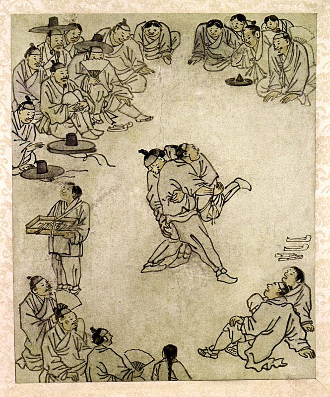 Csoszon-kori ssirümábrázolás Kim Hongdótól
