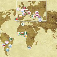 A világbajnokság résztvevői: