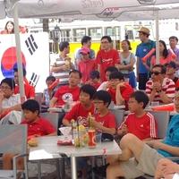 Így szurkoltak a budapesti koreaiak