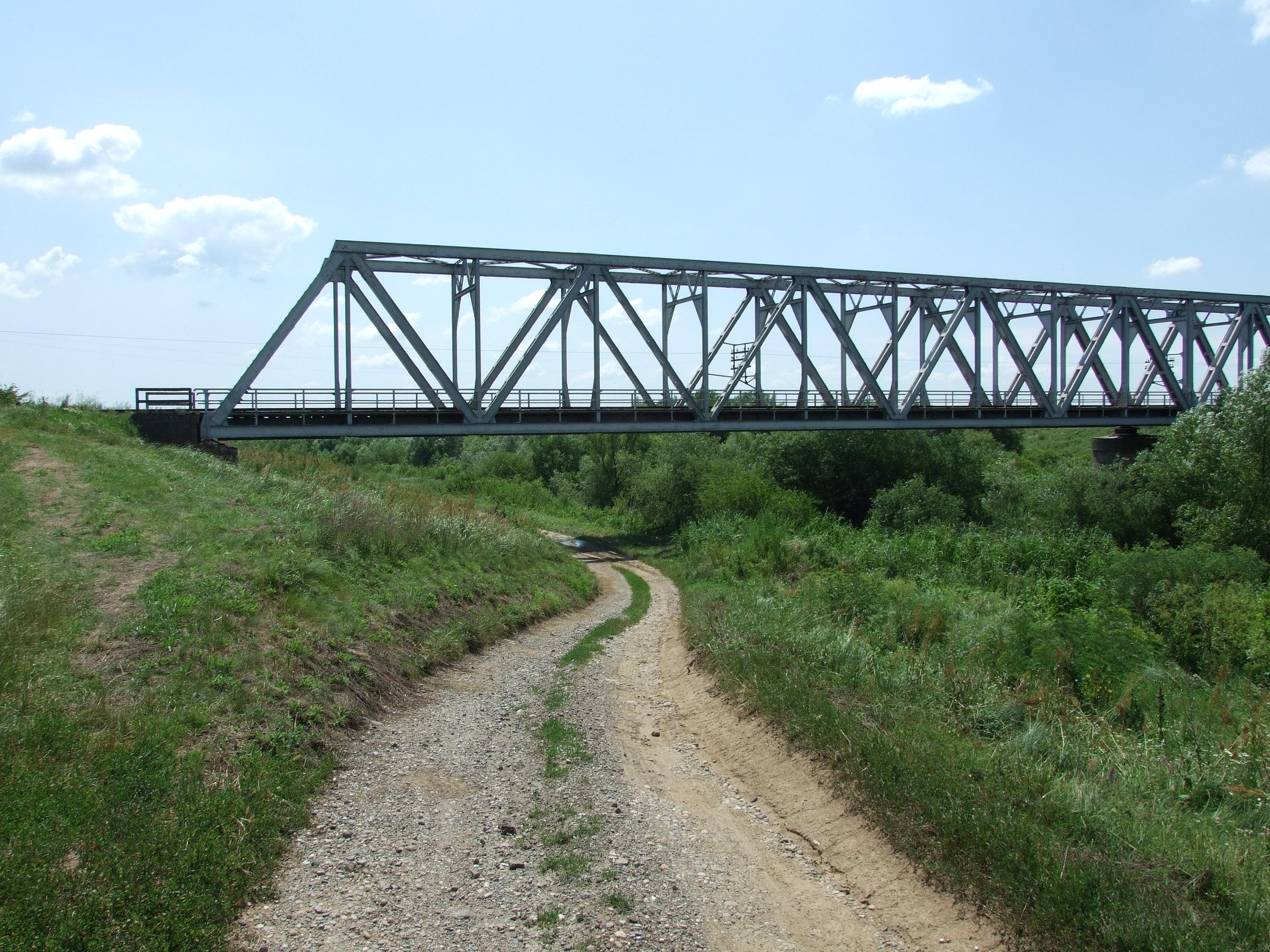 Vasúti híd Kisjenő után