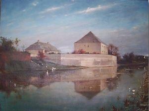 A vármegye falai az 1900-as évek elején (forrás: -Vörös Gabriella: Régészeti kutatások 1988-1991 között a Dóczi udvarház és a Károlyi kastély területén)