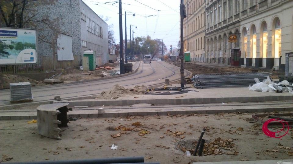 Vidra utca - projekthatár