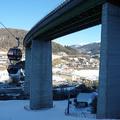 Sílift a völgyhíd lábainál - Bergeralm lift