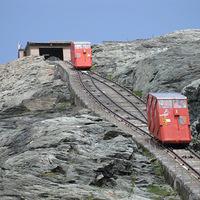 Egy sikló a gleccser fölött - a Grossglockner Gletscherbahn