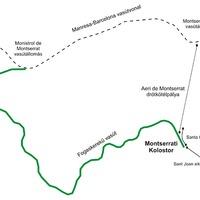 Montserrati Kolostor kötélpályája és siklói